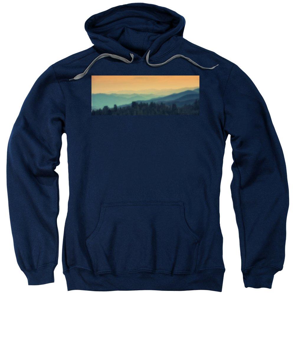 Sunrise Sweatshirt featuring the photograph Smoky Mountain Sunrise by John Prickett