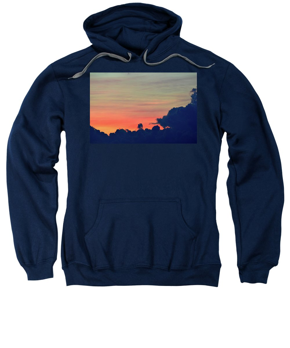 Abstract Sweatshirt featuring the digital art Summer Sunset by Lyle Crump
