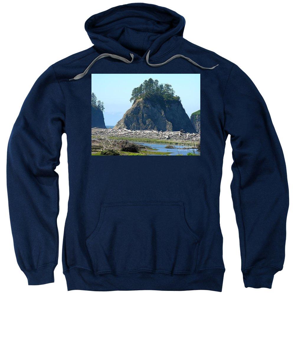 Ocean Sweatshirt featuring the photograph Washington Coast by Diane Greco-Lesser