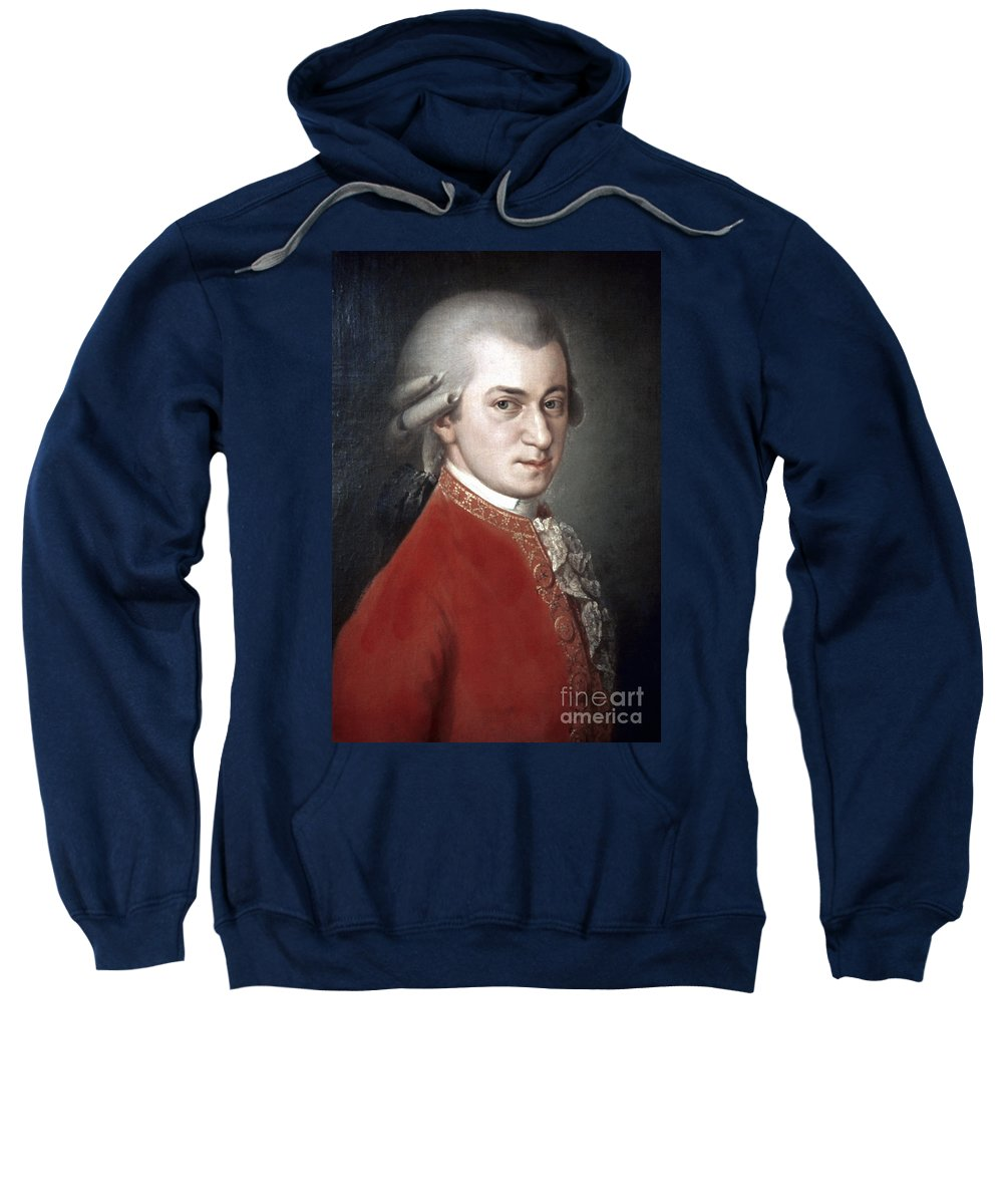 18th Century Sweatshirt featuring the photograph Wolfgang Amadeus Mozart by Granger