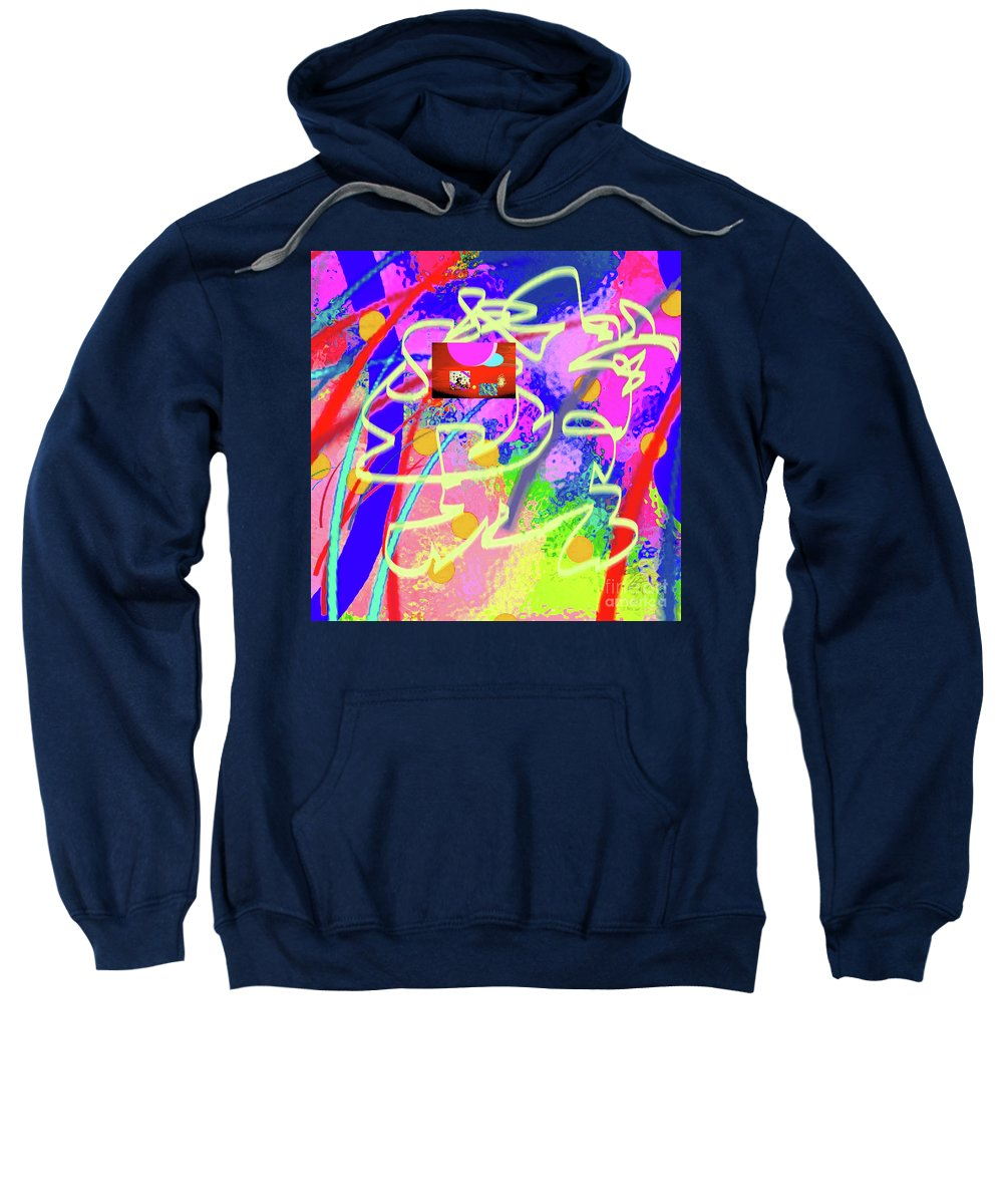 Walter Paul Bebirian Sweatshirt featuring the digital art 3-10-2015dabcdefghijklmnopqrtuvwxyzabcdefg by Walter Paul Bebirian