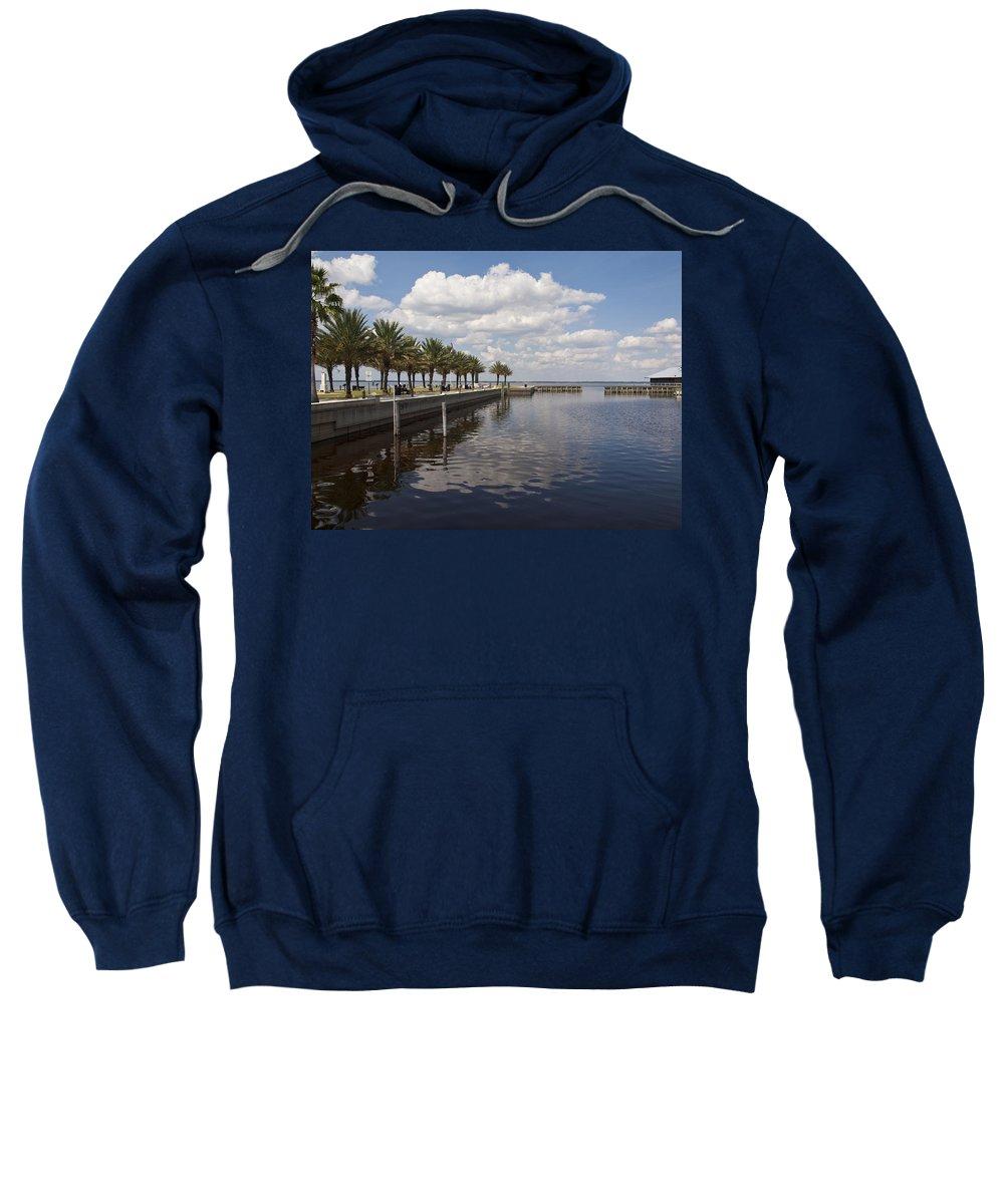 Veterans Sweatshirt featuring the photograph Lake Monroe At The Port Of Sanford Florida by Allan Hughes