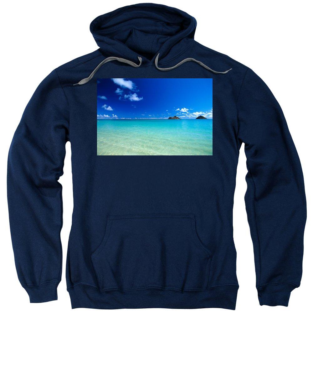 Beautiful Sweatshirt featuring the photograph Oahu, Lanikai Beach by Dana Edmunds - Printscapes