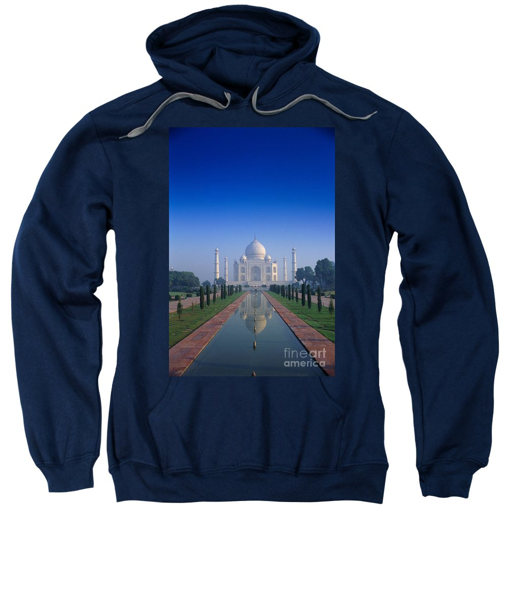 Agra Sweatshirt featuring the photograph Taj Mahal View by Gloria & Richard Maschmeyer - Printscapes
