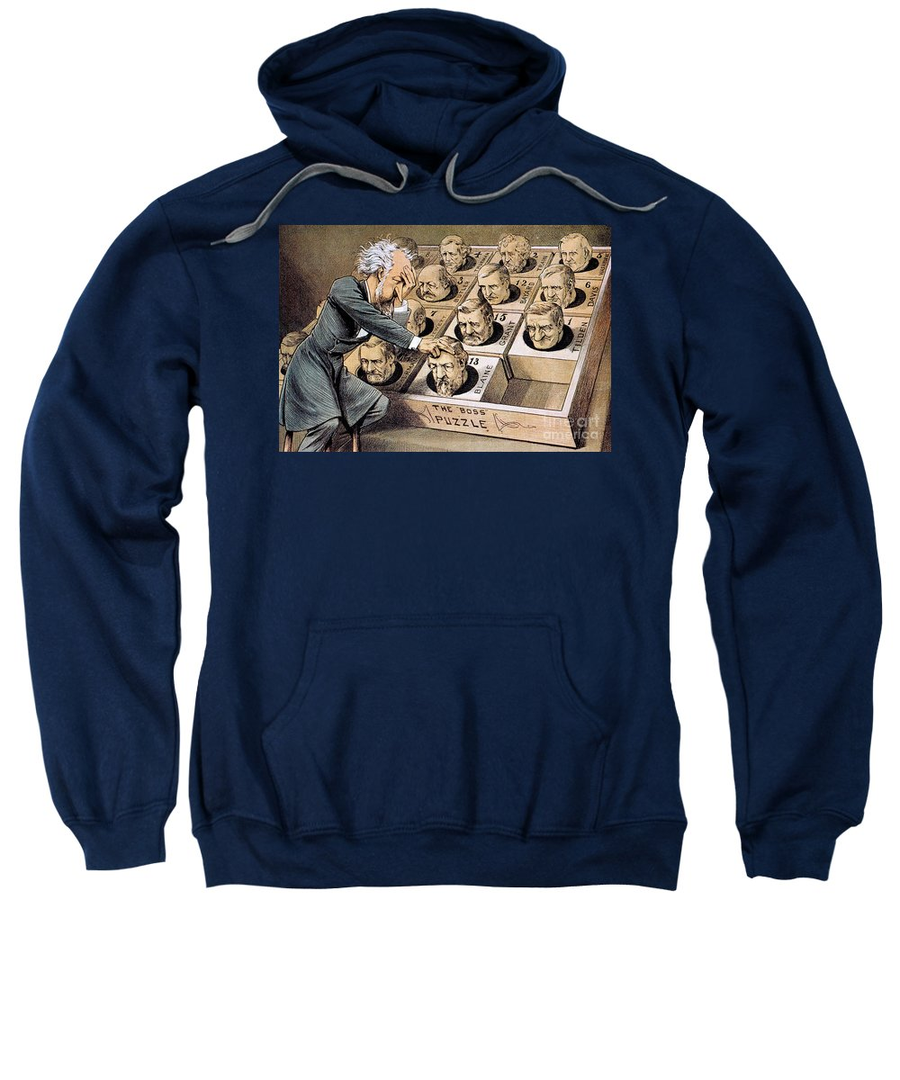 1880 Sweatshirt featuring the photograph Presidential Campaign, 1880 by Granger