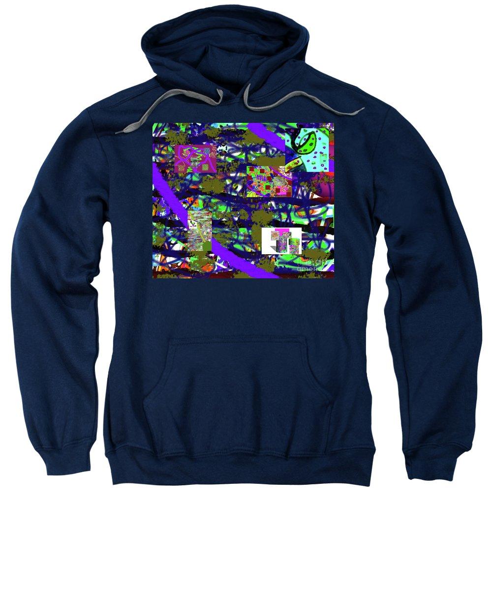Walter Paul Bebirian Sweatshirt featuring the digital art 5-12-2015cabcdefghijklmnopqrtuvw by Walter Paul Bebirian