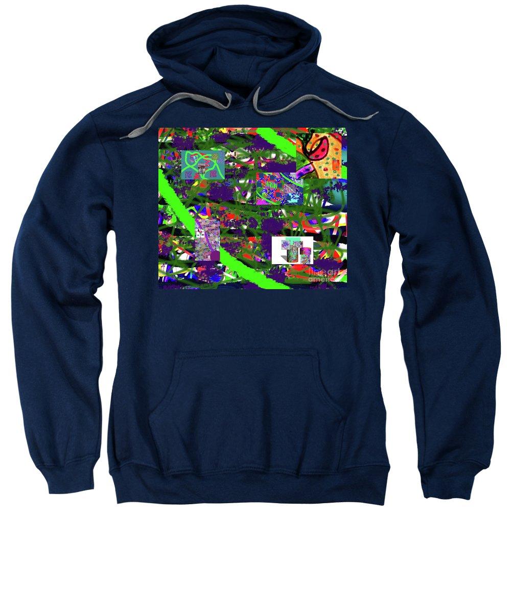 Walter Paul Bebirian Sweatshirt featuring the digital art 5-12-2015cabcdefghijklmnopqrtuvwxyzabcdefghij by Walter Paul Bebirian