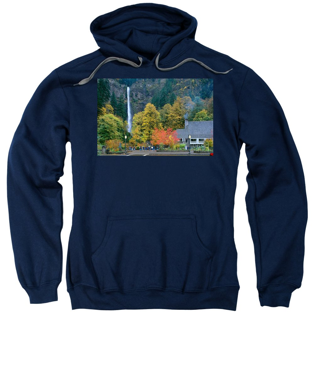 Accommodation Sweatshirt featuring the photograph View Of Oregon by Greg Vaughn - Printscapes