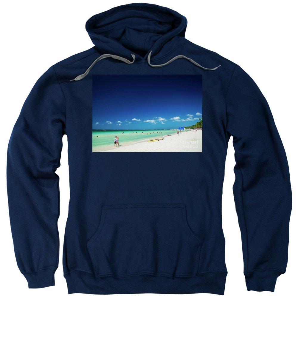 Asia Sweatshirt featuring the photograph Main Beach Of Tropical Paradise Boracay Island Philippines by Jacek Malipan