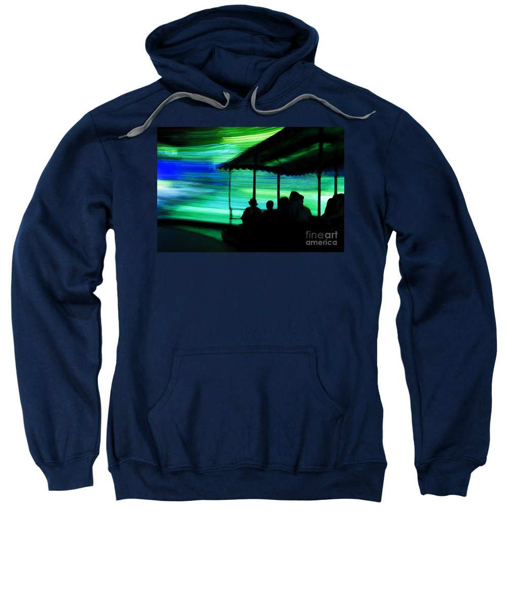 Time Travel Sweatshirt featuring the photograph A Boat Ride Through Time by David Lee Thompson