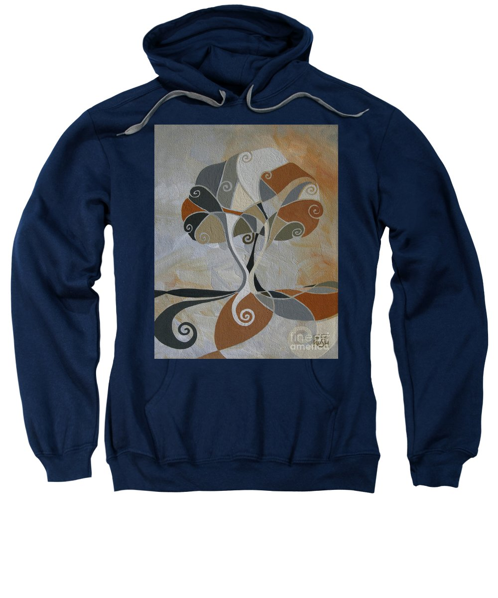 Tree Art Sweatshirt featuring the painting A Cold Winter's Day by Barbara Rush