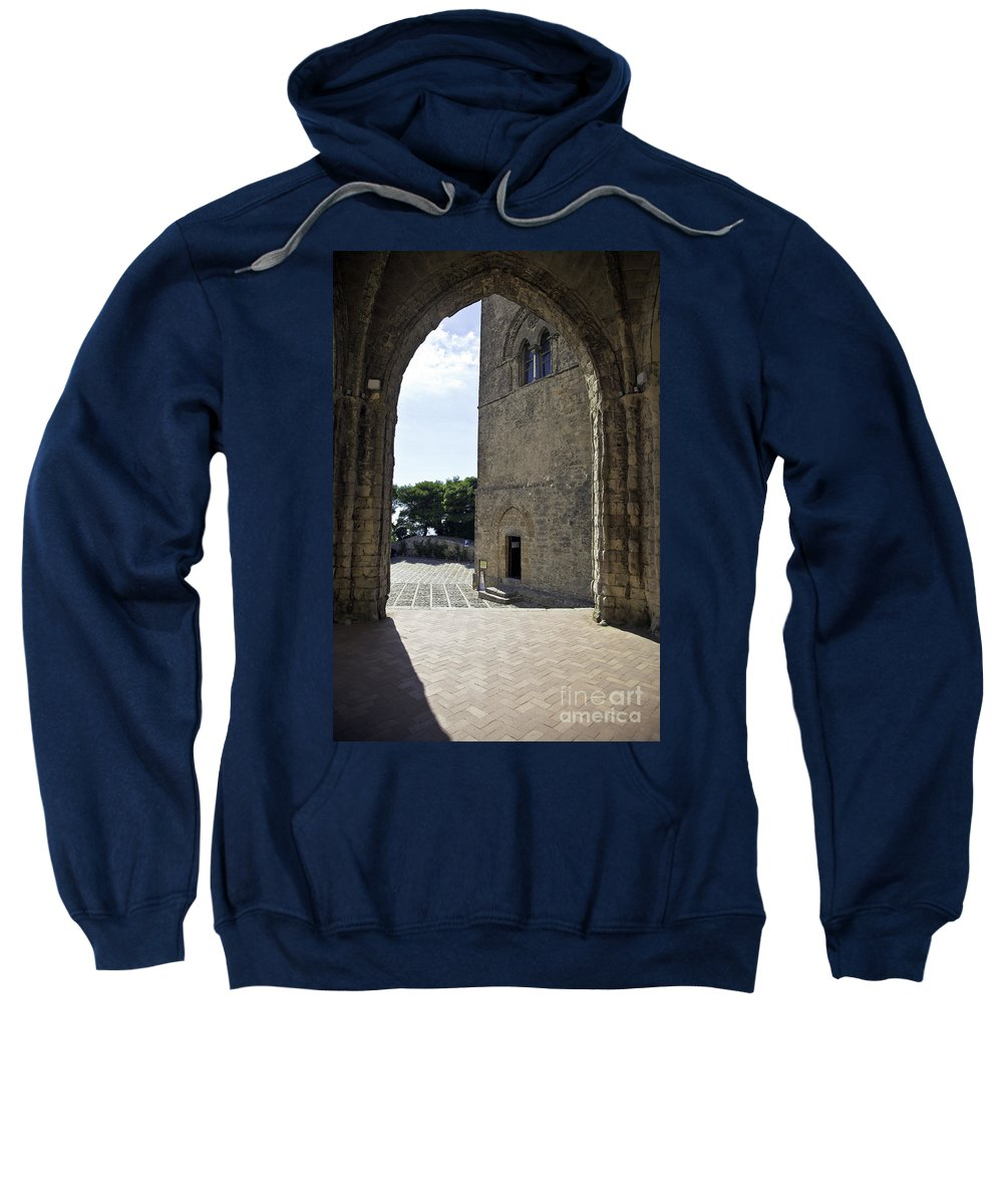 Arch Sweatshirt featuring the photograph A Gothic View II by Madeline Ellis