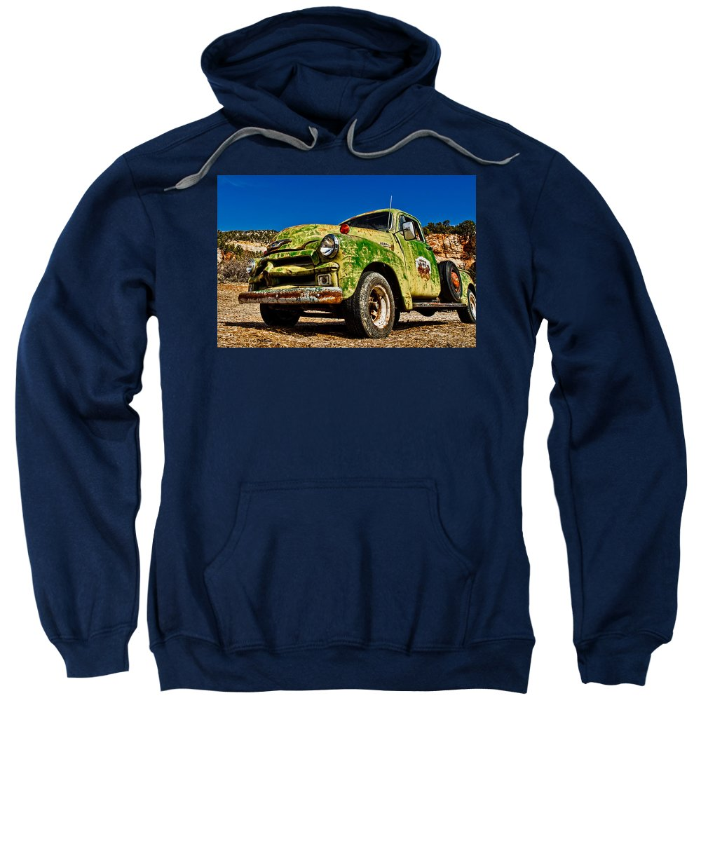 Art Sweatshirt featuring the photograph A Little Wear by Christopher Holmes