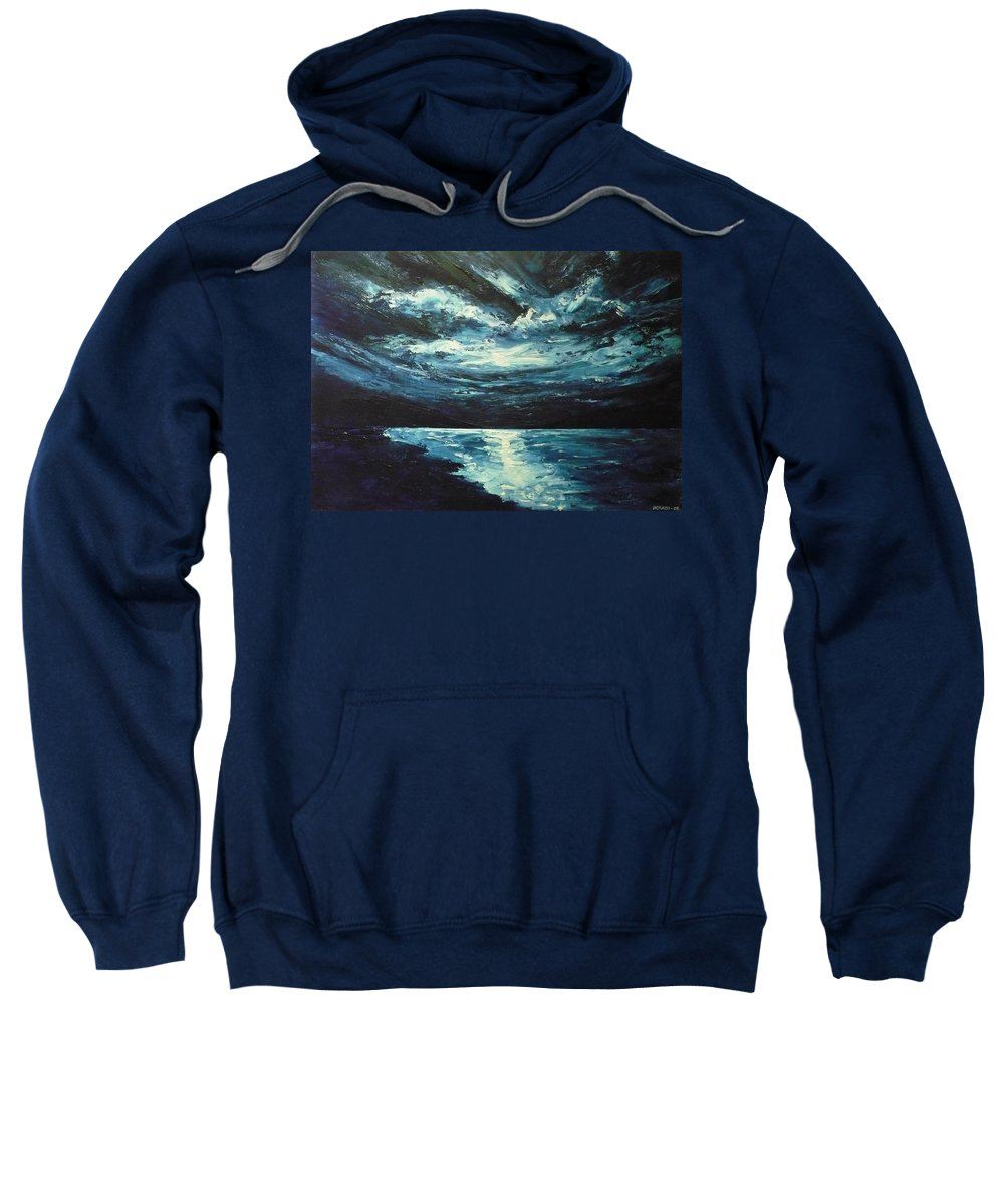 Landscape Sweatshirt featuring the painting A Milky Way by Ericka Herazo