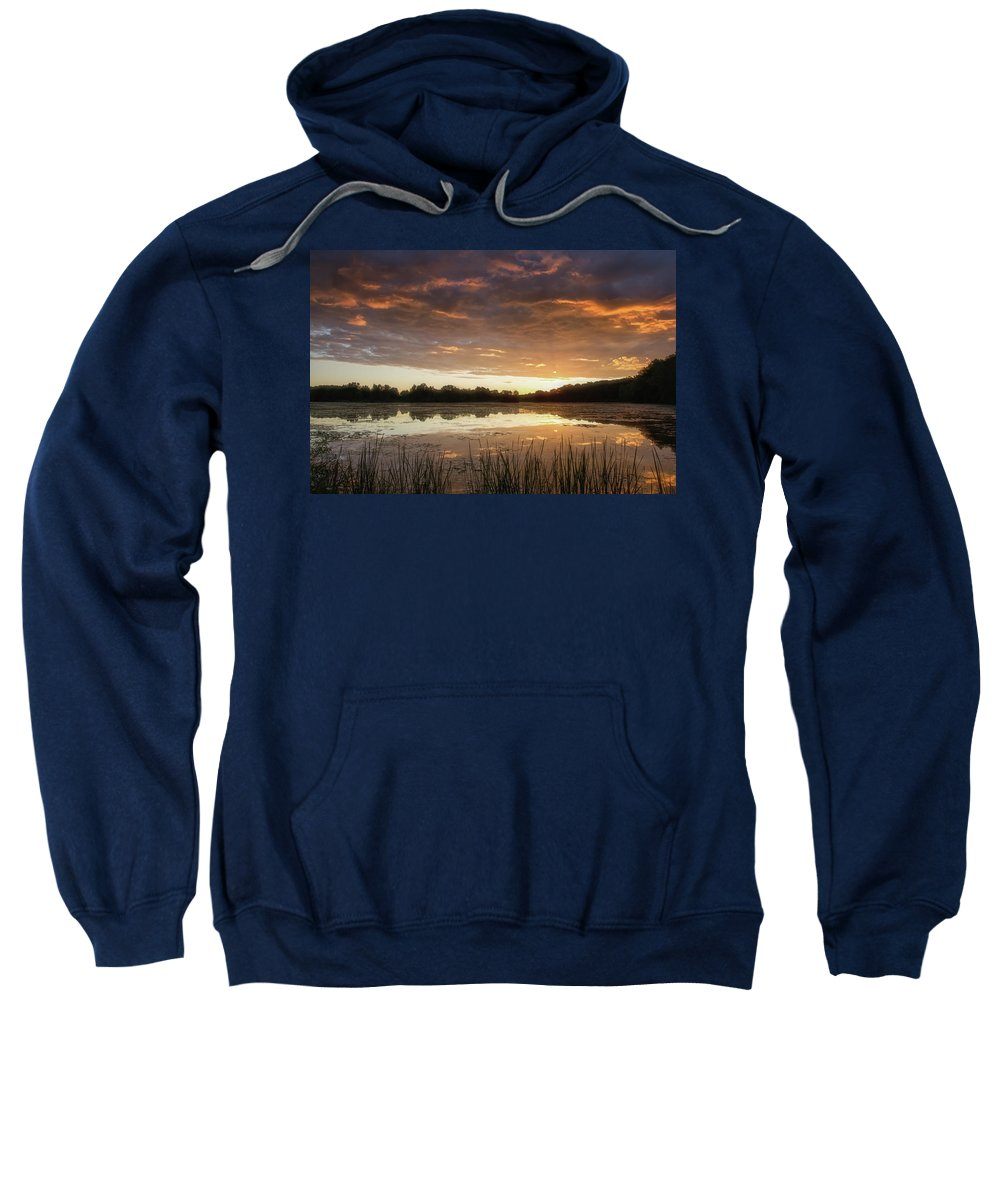Sun Sweatshirt featuring the photograph A New Day by Heather Kenward