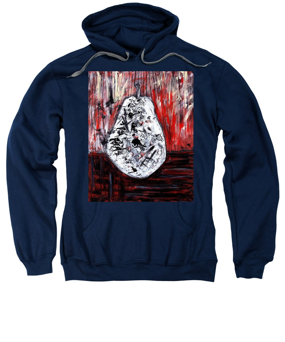 Pear Sweatshirt featuring the painting A Pear-antly by Wayne Potrafka