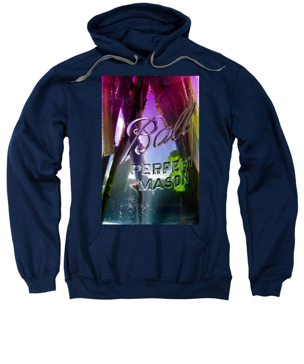Flowers Sweatshirt featuring the photograph A Perfect Mason... by Arthur Miller