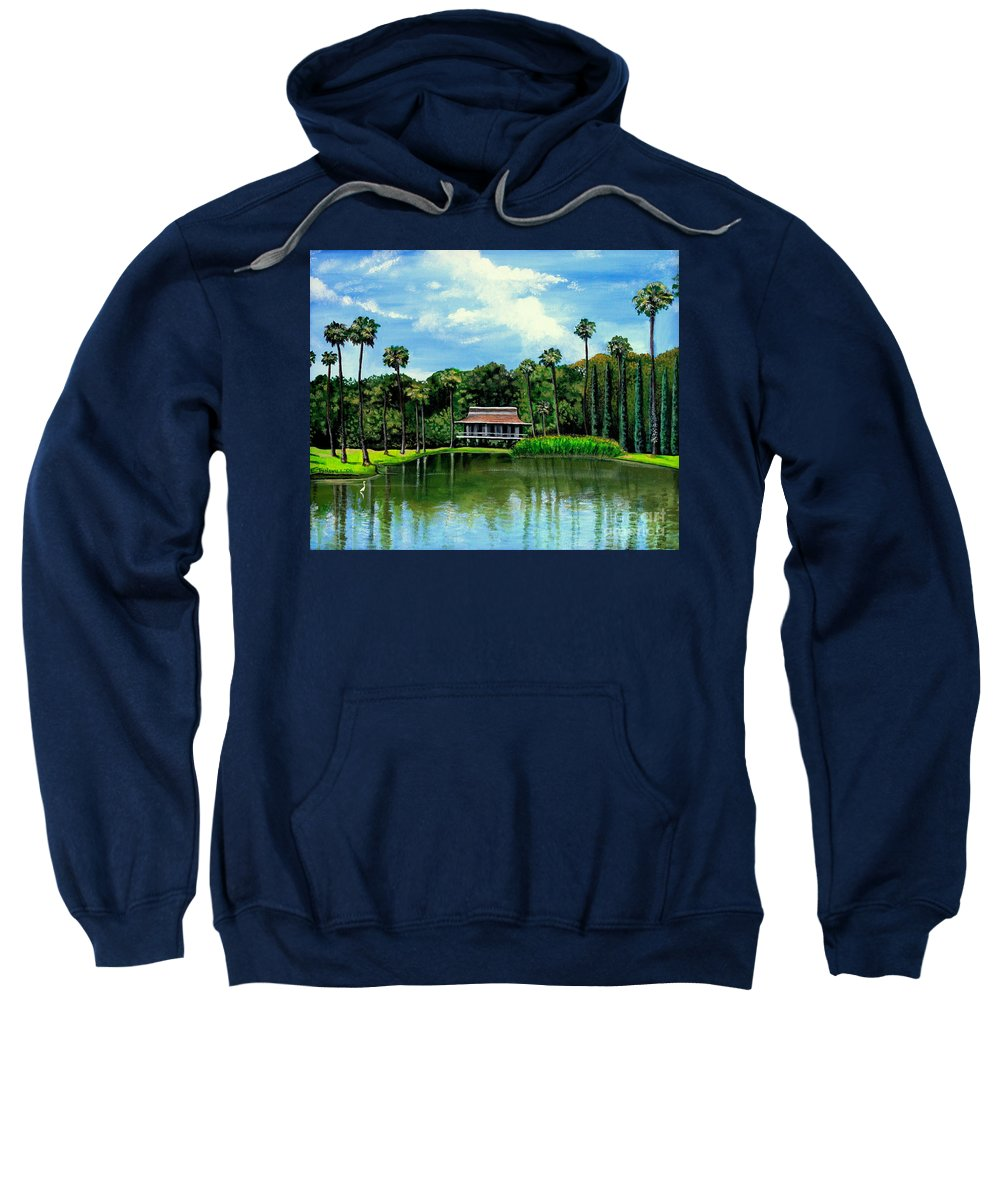 Landscape Sweatshirt featuring the painting A Slice Of Paradise by Elizabeth Robinette Tyndall