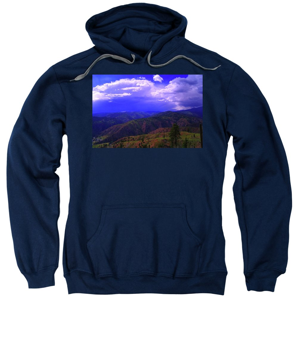 Storms Sweatshirt featuring the photograph A Storm Coming In by Jeff Swan