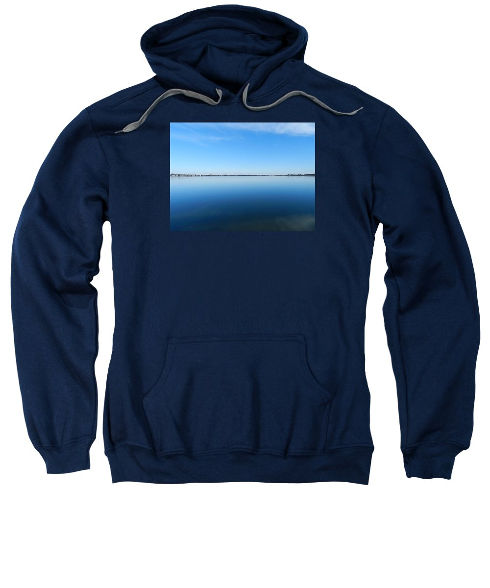 Blue Skys Sweatshirt featuring the photograph A Thin Line by ML Everhart