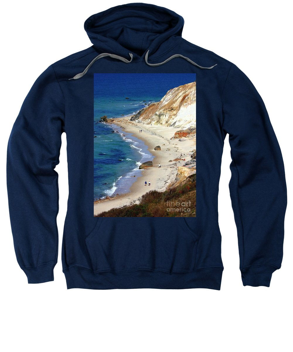 Massachusetts Sweatshirt featuring the photograph A Walk Along Aquinnah Beach by Carol Groenen