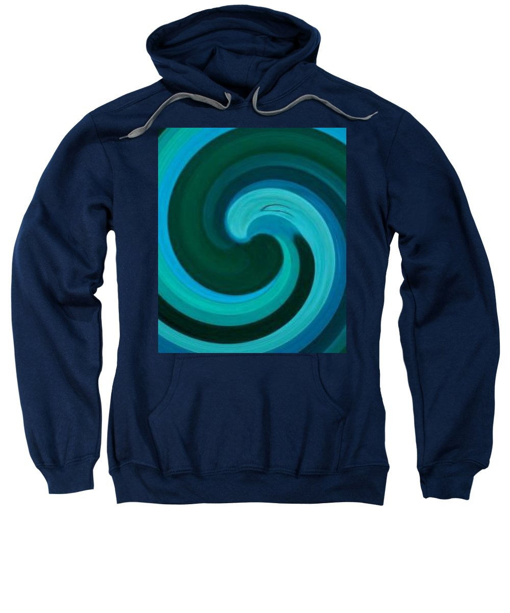 Continuious Sweatshirt featuring the digital art A77 by Andrew Johnson