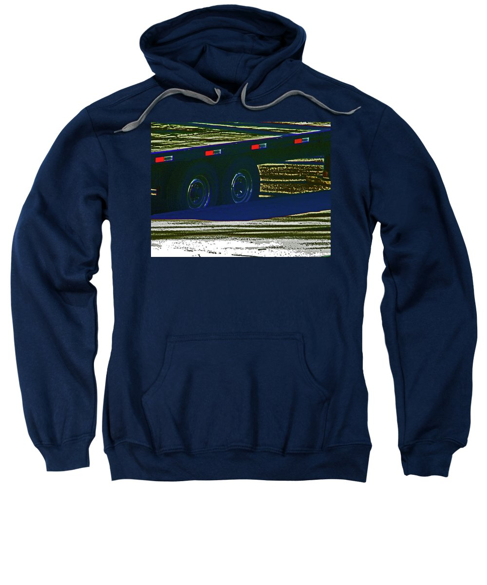 Abstract Sweatshirt featuring the photograph Aaron's Flatbed by Lenore Senior