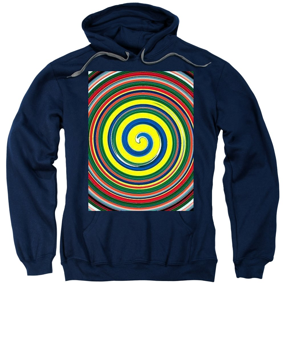 Digital Spiral Sweatshirt featuring the painting Abb1 by Andrew Johnson