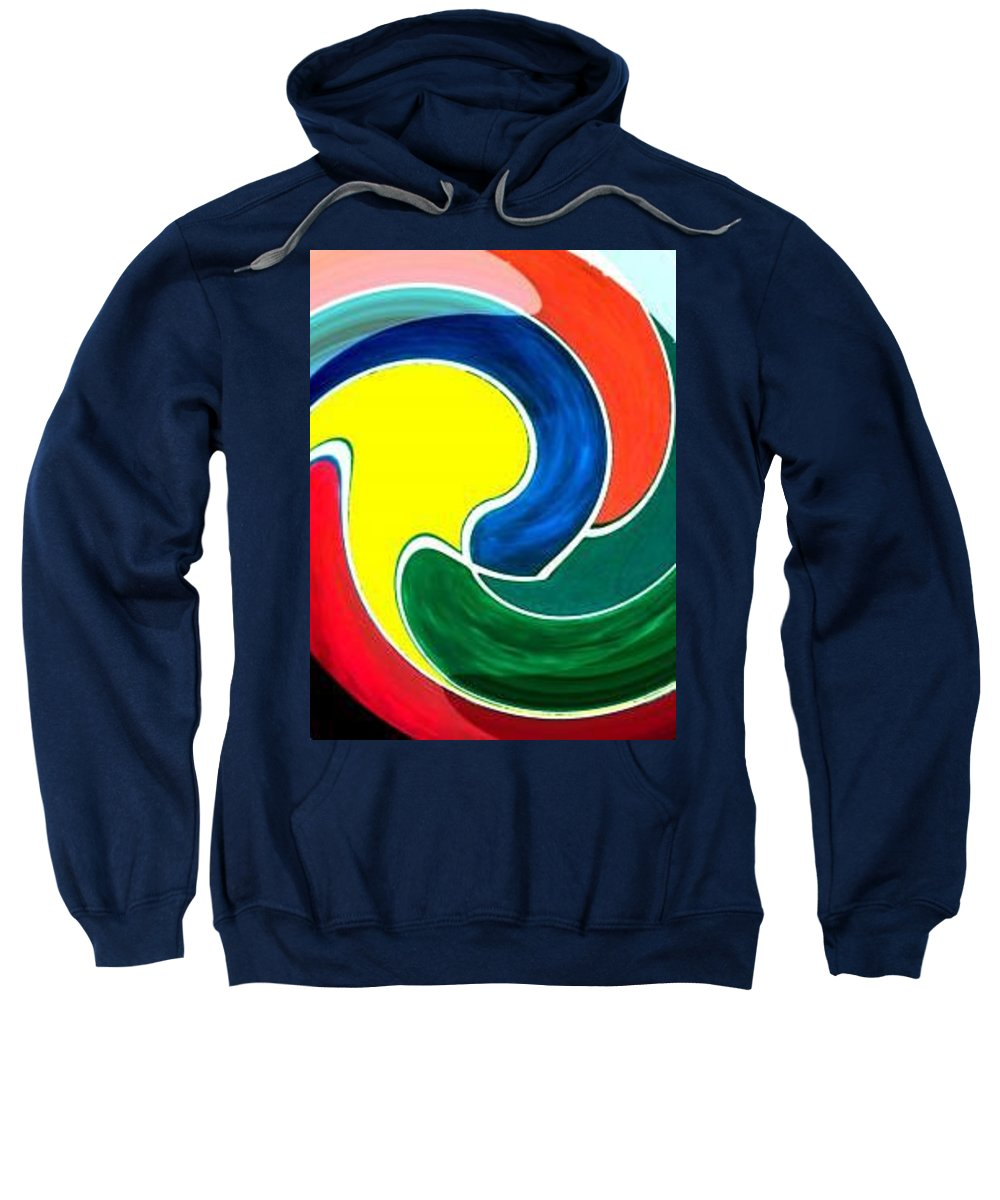 Digitalized Sweatshirt featuring the digital art Abbs by Andrew Johnson