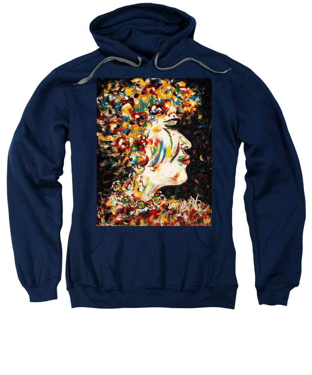 Woman Sweatshirt featuring the painting Absolutely Not by Natalie Holland