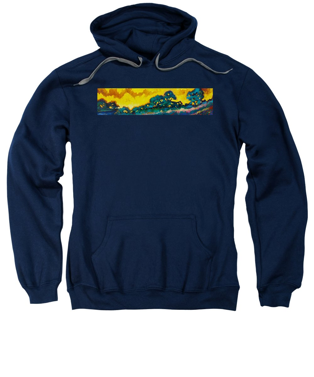 Abstract Sweatshirt featuring the painting Abstract 01 by Richard T Pranke