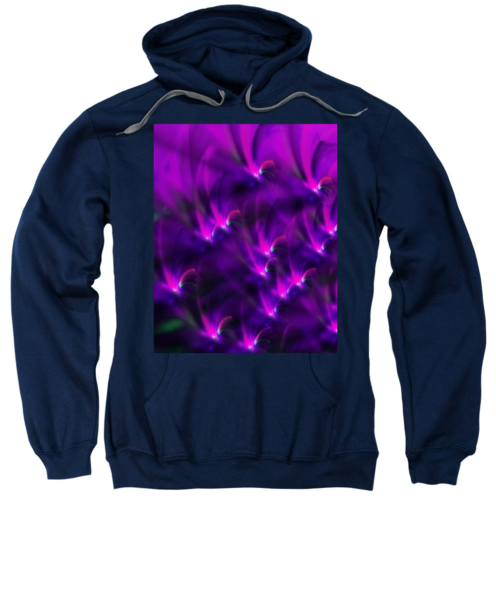 Abstract Sweatshirt featuring the digital art Abstract 022611 by David Lane