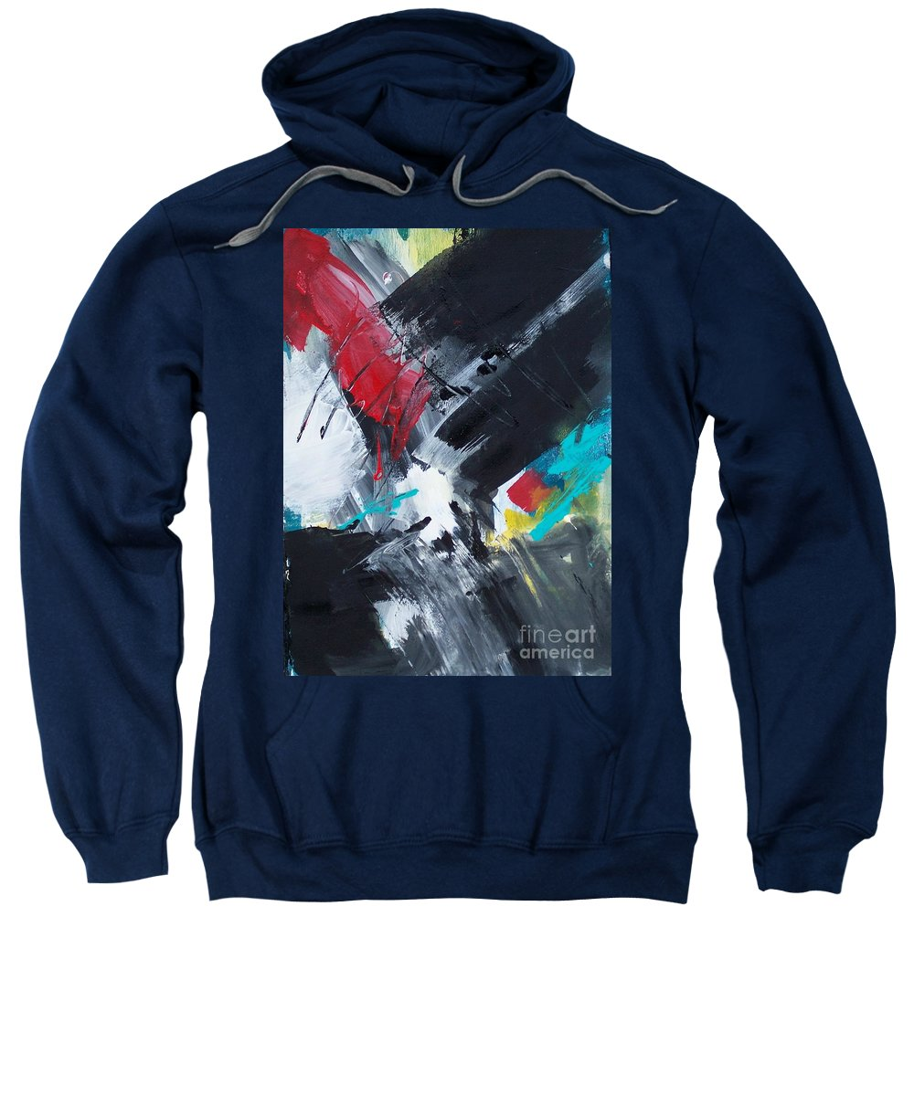 Abstract Sweatshirt featuring the painting Abstract 026 by Donna Frost