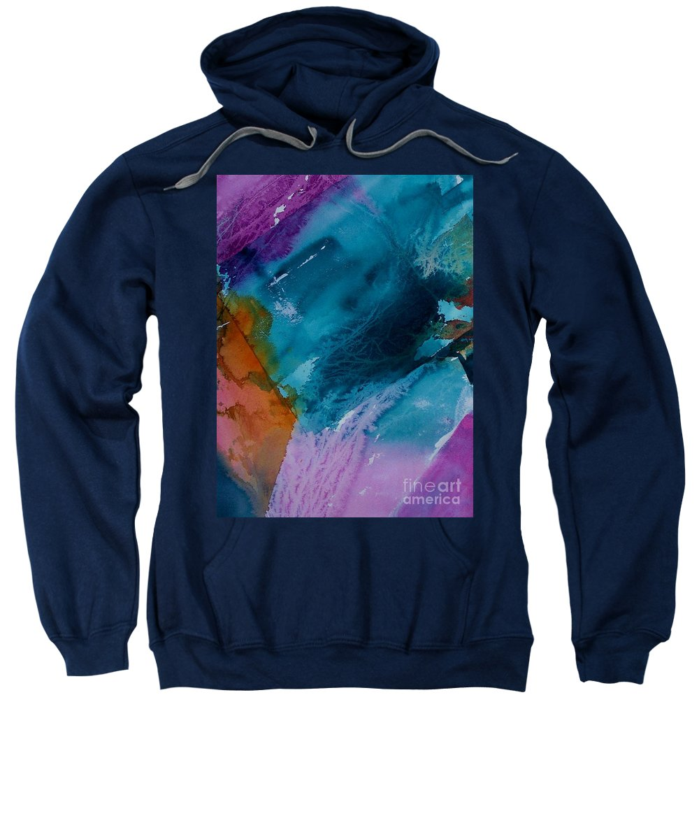 Abstract Sweatshirt featuring the painting Abstract 034 by Donna Frost
