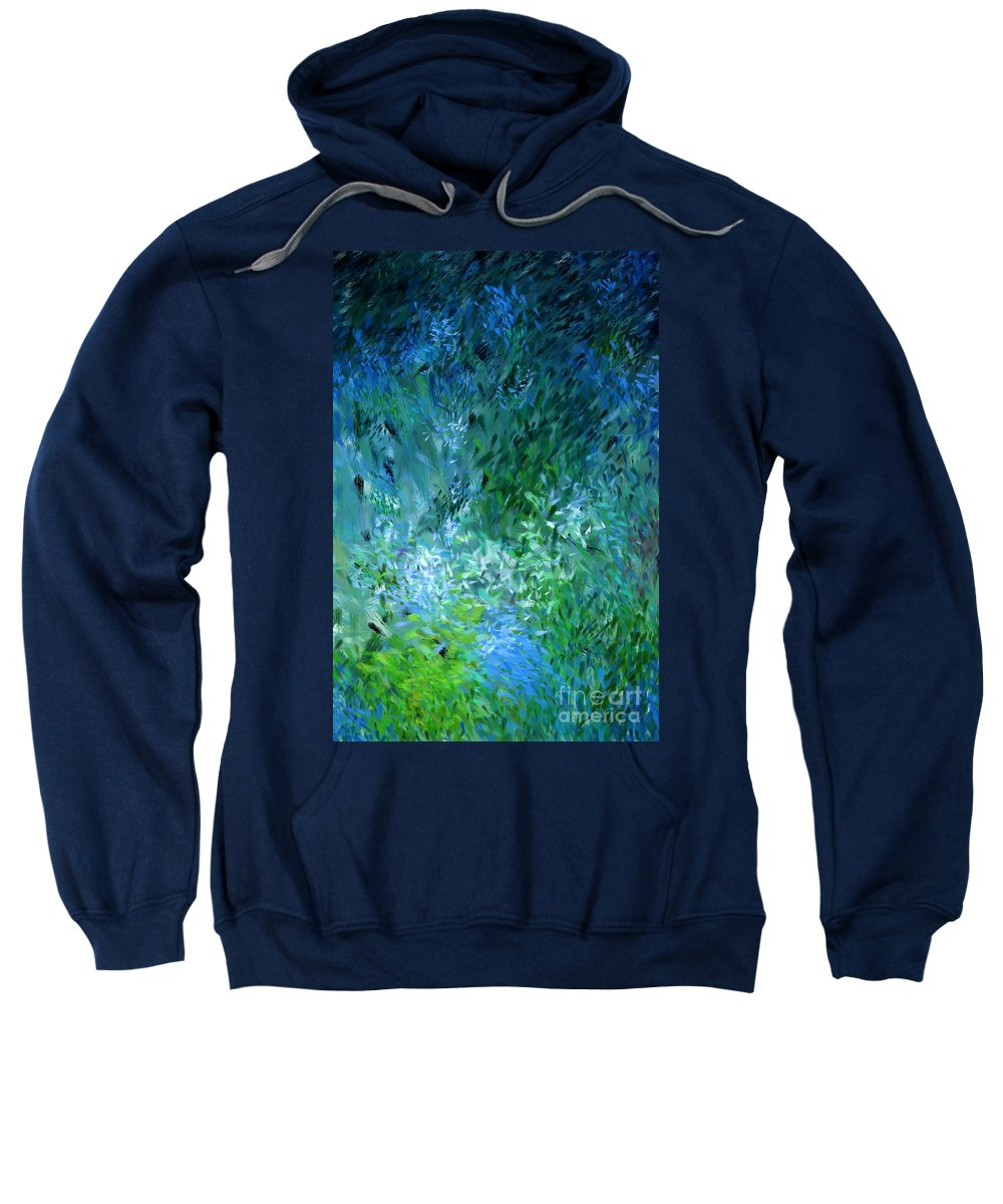 Abstract Sweatshirt featuring the digital art Abstract 05-25-09 by David Lane