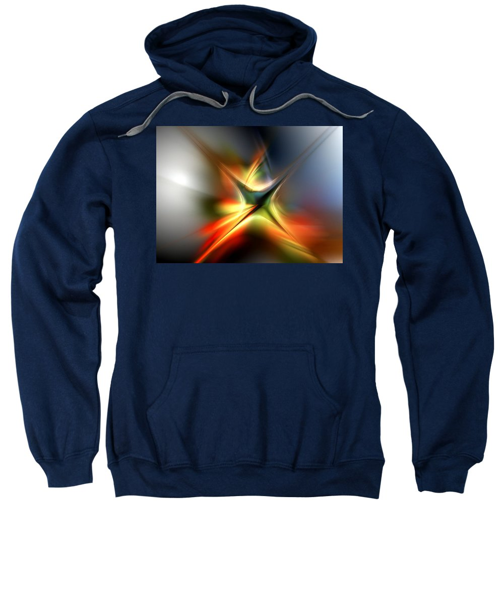 Digital Painting Sweatshirt featuring the digital art Abstract 060310a by David Lane