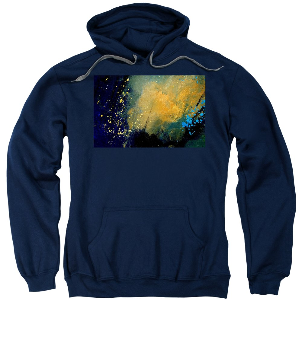Abstract Sweatshirt featuring the painting Abstract 061 by Pol Ledent