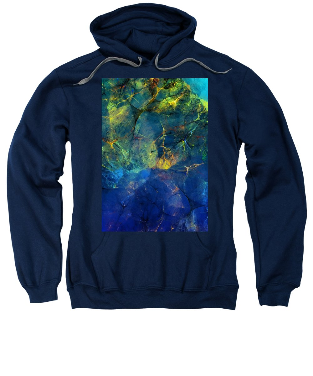 Abstracts Sweatshirt featuring the digital art Abstract 081610 by David Lane