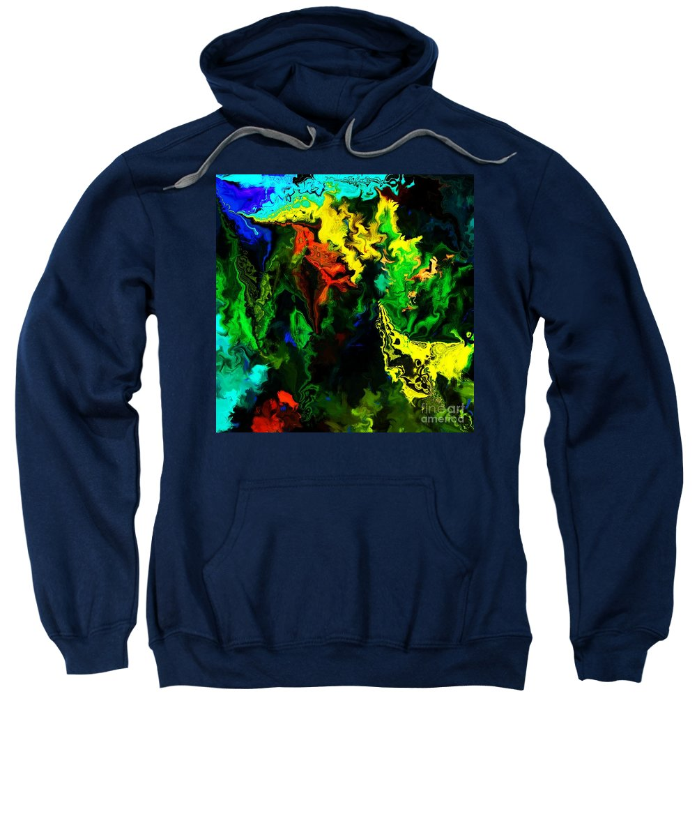 Abstract Sweatshirt featuring the digital art Abstract 2-23-09 by David Lane