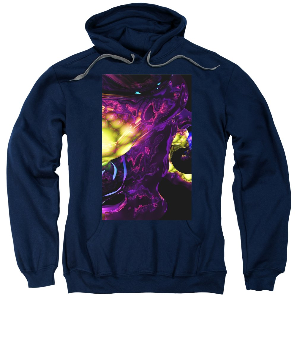 Abstract Sweatshirt featuring the digital art Abstract 7-25-09 by David Lane