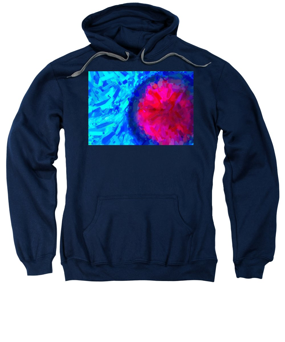 Abstract Sweatshirt featuring the painting Abstract Art Combination - The Pink Martian Crater, Ca 2017, By Adam Asar , In 3d Watercolor by Adam Asar