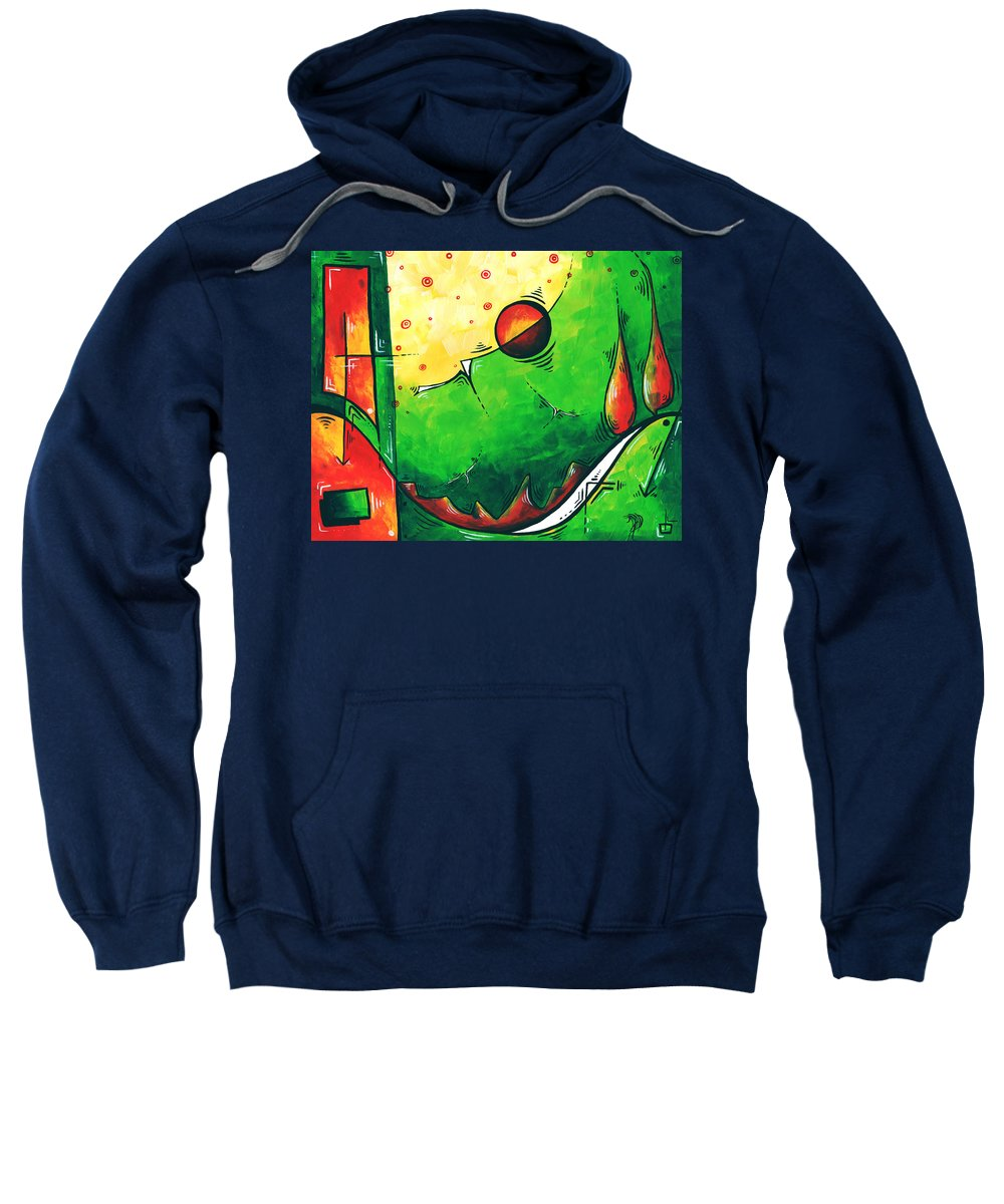 Abstract Sweatshirt featuring the painting Abstract Pop Art Original Painting by Megan Duncanson