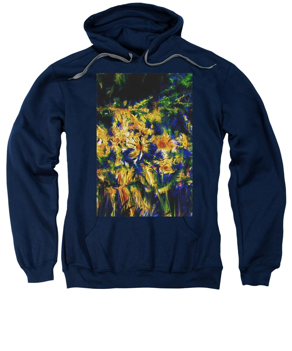 Abstract Digital Painting Sweatshirt featuring the digital art Abstract11-06-09 by David Lane