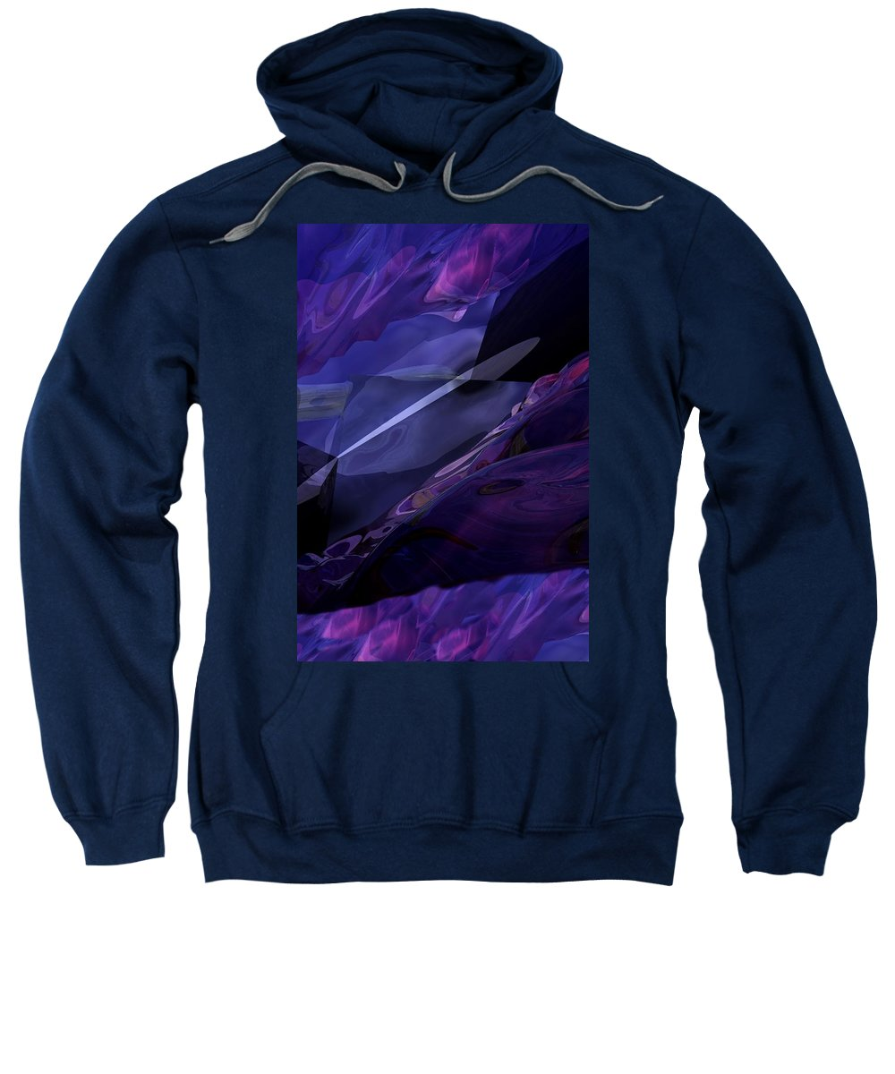 Abstract Sweatshirt featuring the digital art Abstractbr6-1 by David Lane