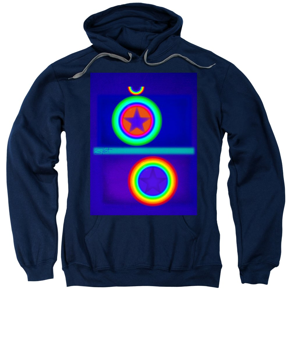 Balance Sweatshirt featuring the painting Acrobats Blue by Charles Stuart