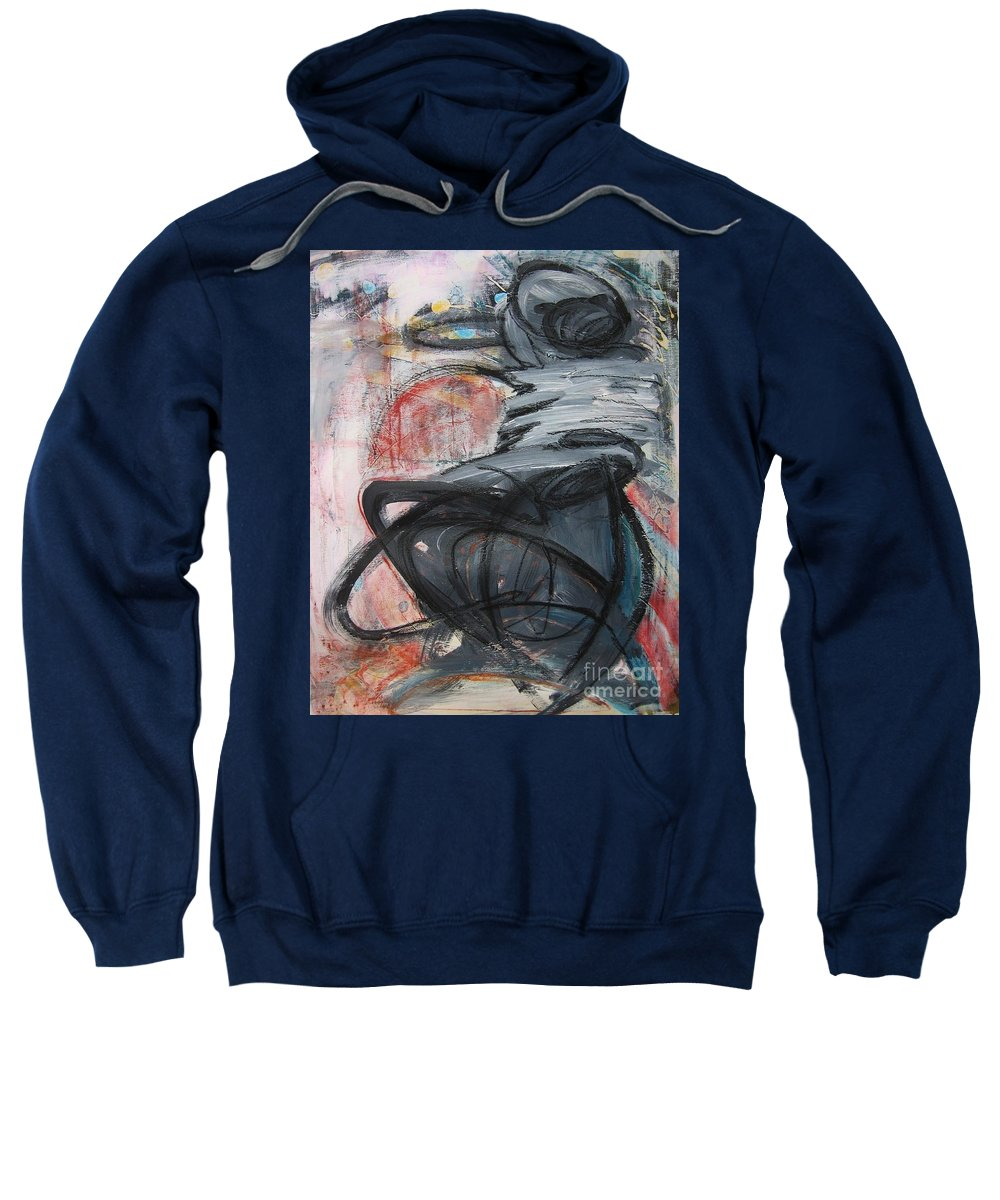 Abstract Paintings Paintings Sweatshirt featuring the painting All Alone by Seon-Jeong Kim