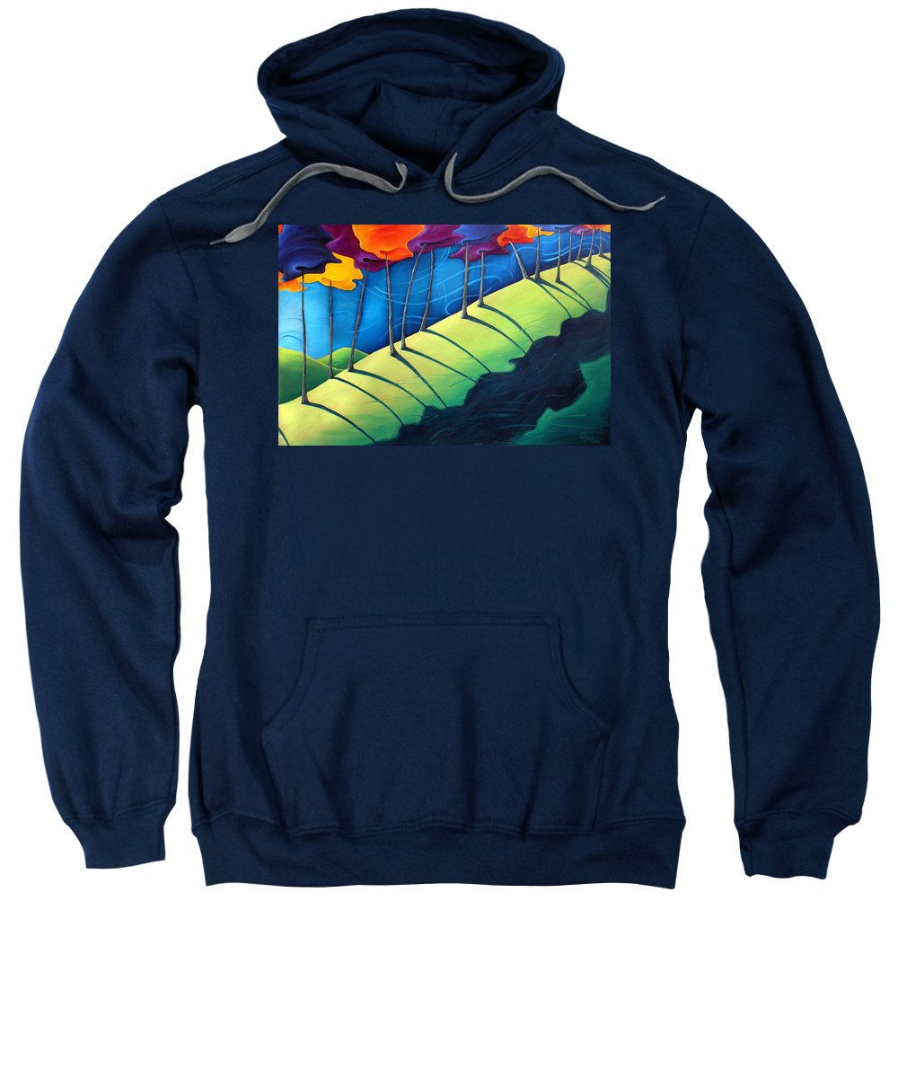 Landscape Sweatshirt featuring the painting All The Same In The End by Richard Hoedl