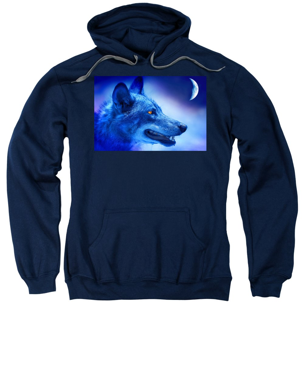 Wolf Sweatshirt featuring the photograph Alpha Wolf by Mal Bray