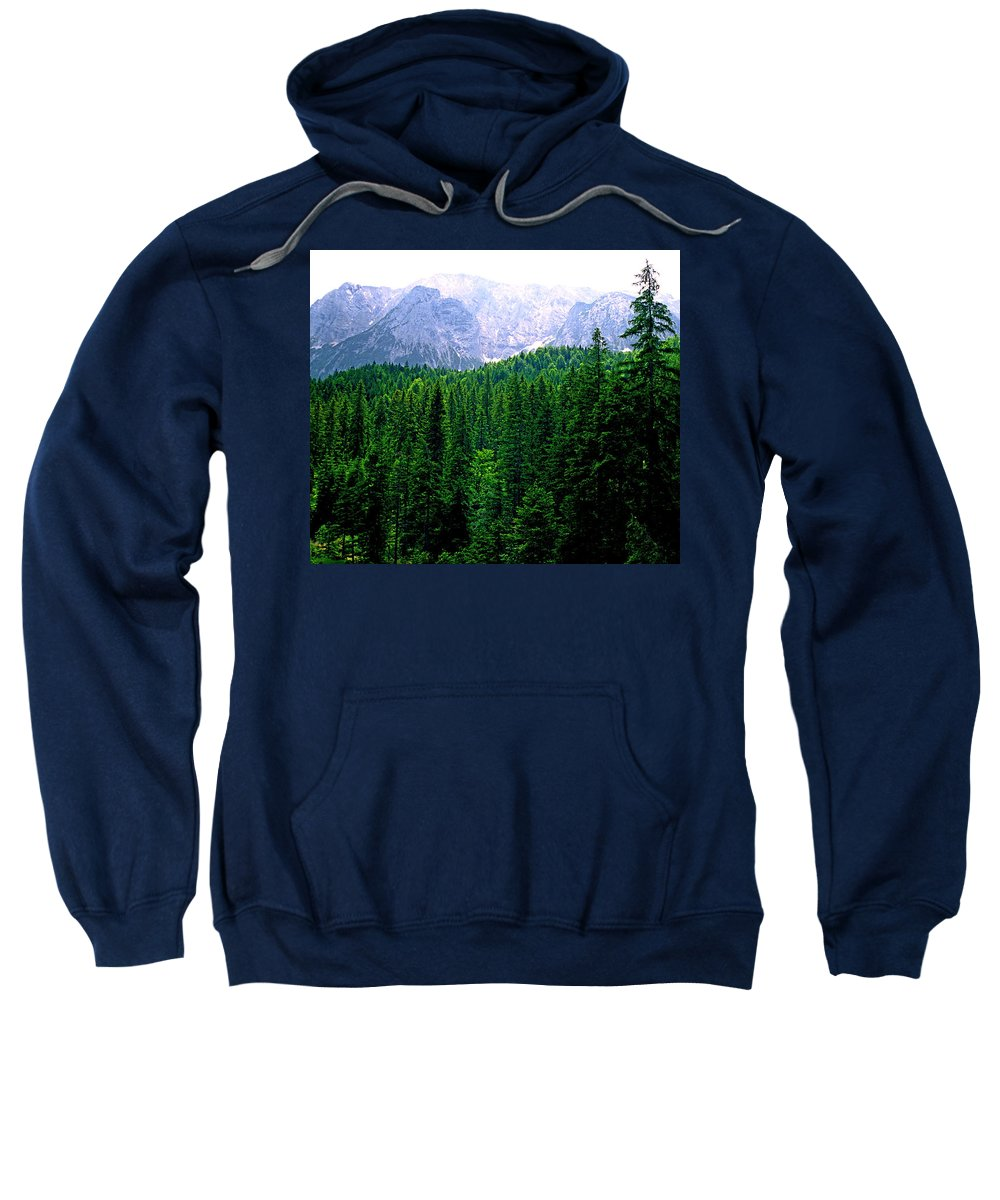 Bavaria Sweatshirt featuring the photograph Alpine Forest by Kevin Smith