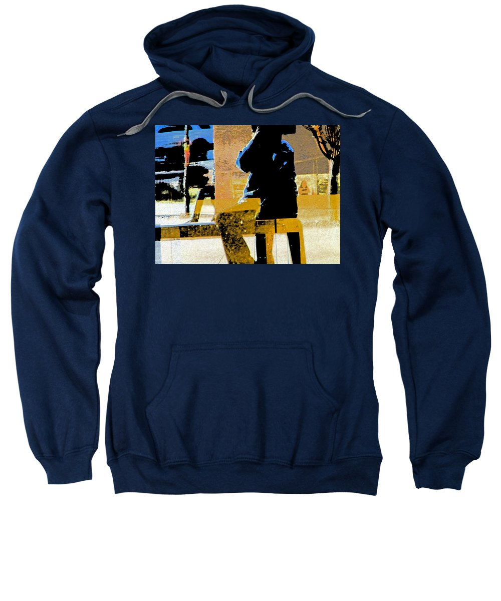 Abstract Sweatshirt featuring the digital art Alternate Reality-photographer 3 by Lenore Senior